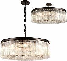 Lámpara colgante redonda Florero 10 bombillas