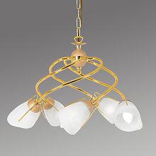 Lámpara colgante Rondo en color oro