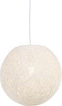 Lámpara colgante rústica blanca 35cm - CORDA