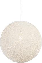 Lámpara colgante rústica blanca 45cm - CORDA