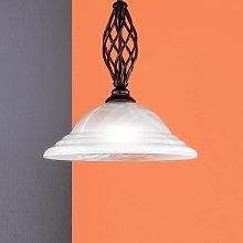 Lámpara colgante Sybille, tulipa de cristal, 1 luz
