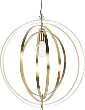 Lámpara colgante vintage de latón - Anillos