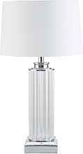Lámpara columna con pantalla blanca