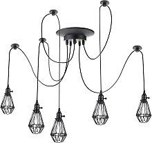 Lámpara con jaulas ovaladas para 5 bombillas de