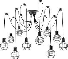 Lámpara con jaulas redondas para 10 bombillas de