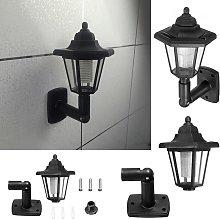 Lámpara de aplique de pared solar LED hexagonal