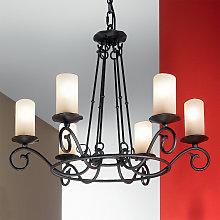Lámpara de araña Bente, 6 luces