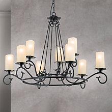 Lámpara de araña Bente, 9 luces