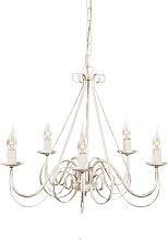 Lámpara de araña blanca - GIUSEPPE 5