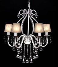 Lámpara de araña colgante, candelabro de metal