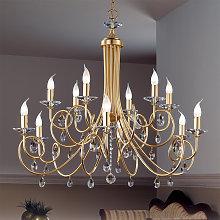 Lámpara de araña de 12 llamas VIOLETTA oro