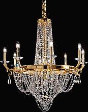 Lámpara de araña de cristal Elisabetta de latón