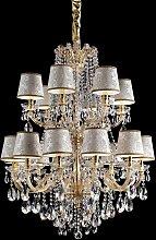 Lámpara de araña dorada Marianna