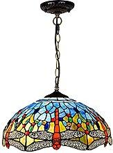 Lámpara De Araña Estilo Tiffany, Luz De Techo De