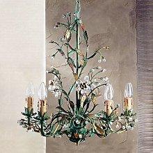 Lámpara de araña Francesca verde estilo