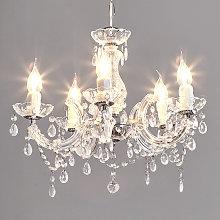 Lámpara de araña noble Arabesco transparente