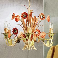 Lámpara de araña Novara de estilo florentino