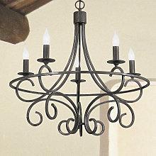 Lámpara de araña Tommaso de hierro forjado