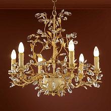 Lámpara de araña VERDI de diseño floral