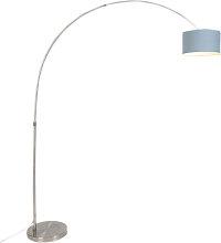 Lámpara de arco de acero con pantalla 35/35/20