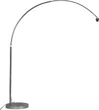 Lámpara de arco moderna cromada ajustable sin