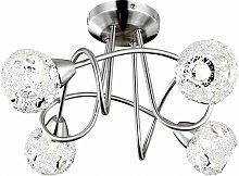 Lámpara de bola de techo lámpara de cristal de