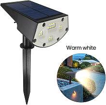 Lampara de cesped 20LED con energia solar, luz