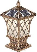 Lámpara de Columna Solar a Prueba de Agua,