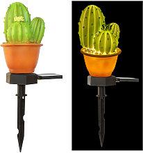 Lampara de energia solar,Cactus siames en maceta