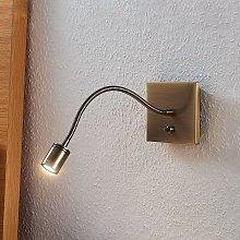 Lámpara de lectura LED Mayar brazo flexible latón