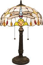 Lámpara de mesa 5945 en look Tiffany con
