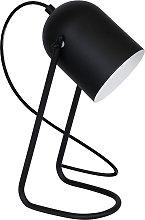 Lámpara de mesa 8435 como foco cilíndrico, negro