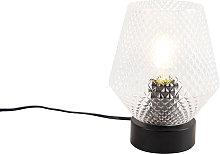 Lámpara de mesa Art Deco negra - KARCE