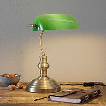 Lámpara de mesa Bankers 42 cm de alto, verde