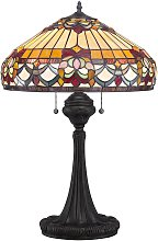 Lámpara de mesa Belle Fleur en diseño Tiffany