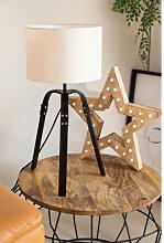Lámpara de Mesa Bursy Negro Sklum