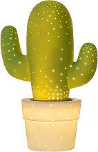 Lámpara de mesa Cactus, decorativa, verde