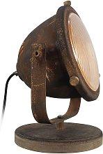 Lámpara de mesa Carmen, estilo industrial, oxidado