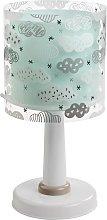 Lámpara de mesa Clouds, habitación infantil, azul