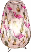 Lámpara de mesa comedor papel flamenco lámpara