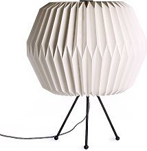 Lámpara de mesa con papel de sombra