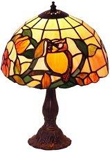 Lámpara de mesa con patrón JULIANA estilo Tiffany