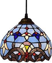 Lámpara de mesa con vitrales estilo Tiffany