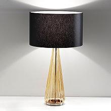 Lámpara de mesa Costa Rica tulipa negra, pie