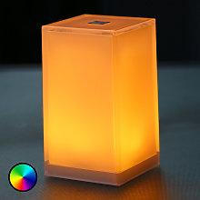 Lámpara de mesa Cub, set 6, controlable app, RGBW