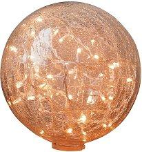 Lámpara de mesa de 25 cm de cristal transparente