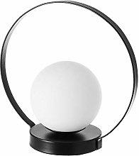 Lámpara de mesa de bola industrial de metal y
