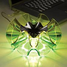 Lámpara de mesa de diseño LED Flamenca en verde