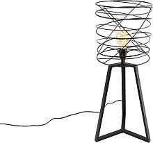 Lámpara de mesa de diseño negra - SPIRA