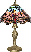Lámpara de mesa de estilo Tiffany DRAGONFLY